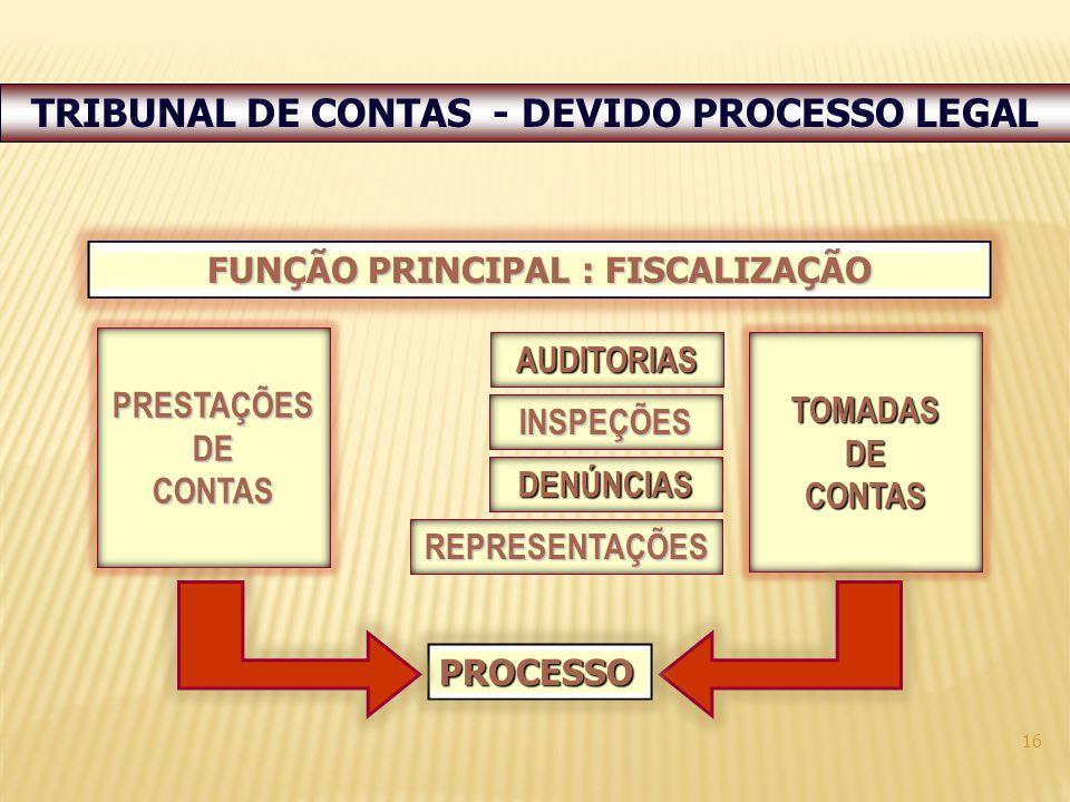 TRIBUNAL DE CONTAS - DEVIDO PROCESSO LEGAL