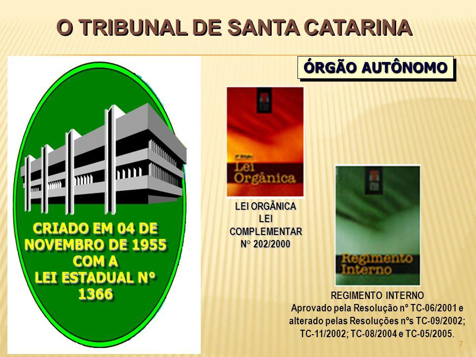 O TRIBUNAL DE SANTA CATARINA