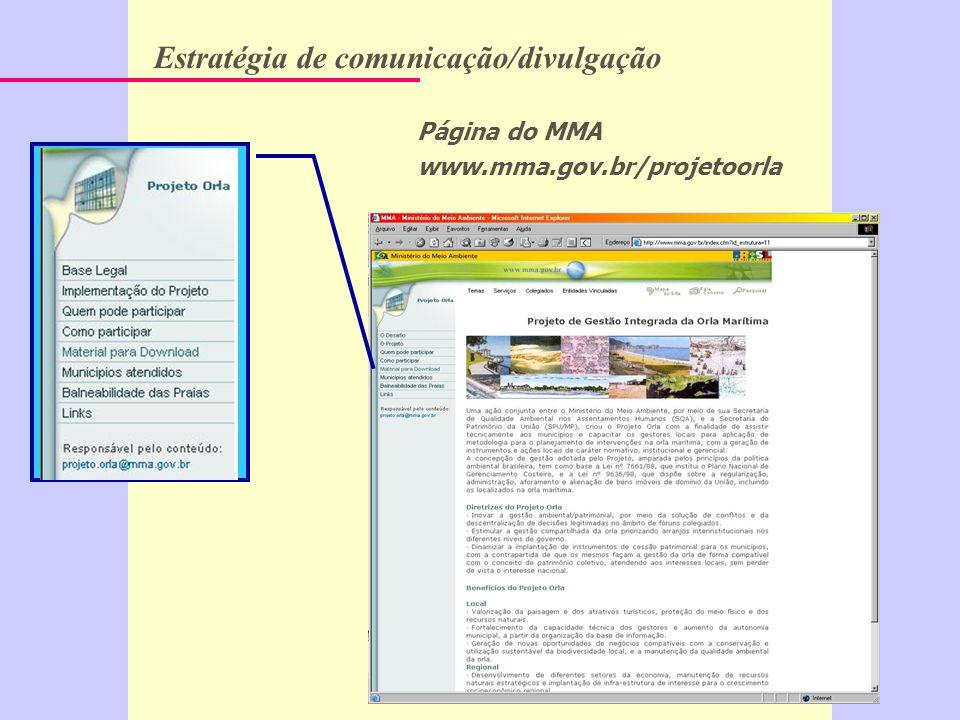 Estratégia de comunicação/divulgação