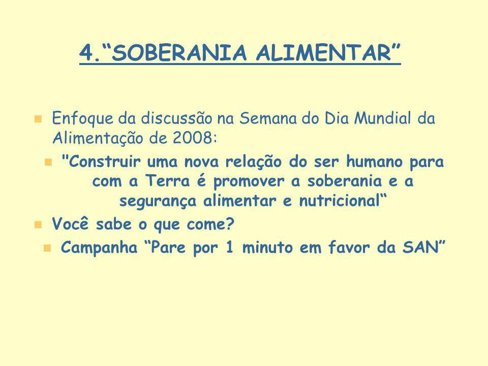 4. SOBERANIA ALIMENTAR