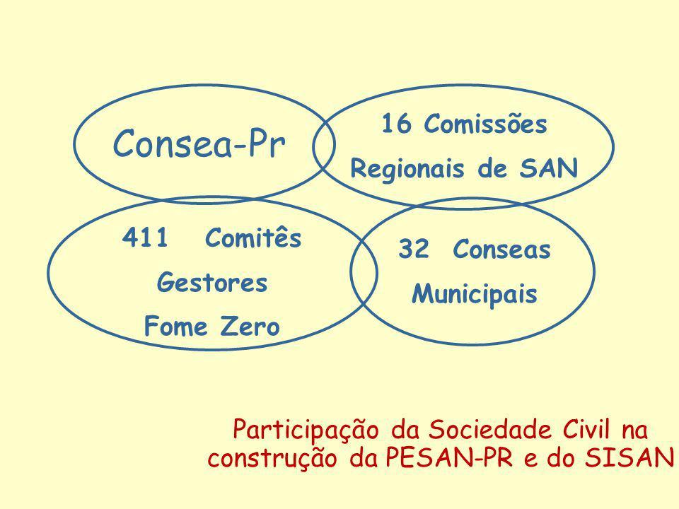 Participação da Sociedade Civil na construção da PESAN-PR e do SISAN