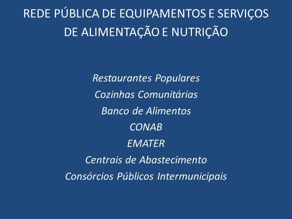 REDE PÚBLICA DE EQUIPAMENTOS E SERVIÇOS DE ALIMENTAÇÃO E NUTRIÇÃO