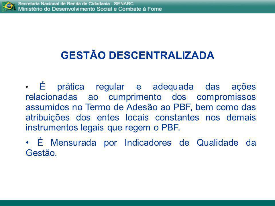 GESTÃO DESCENTRALIZADA