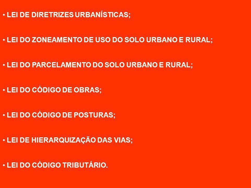 LEI DE DIRETRIZES URBANÍSTICAS;