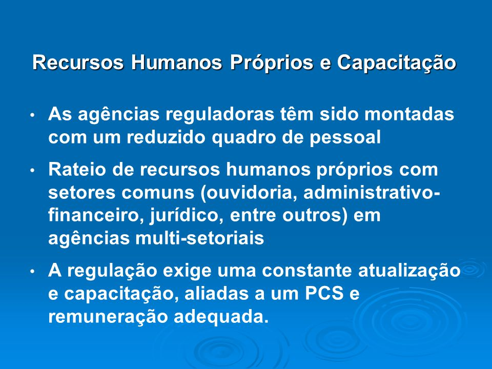 Recursos Humanos Próprios e Capacitação