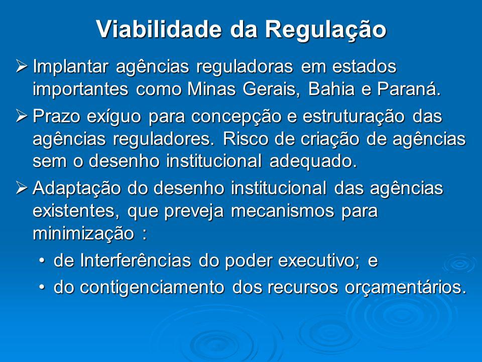 Viabilidade da Regulação