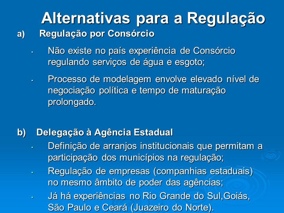 Alternativas para a Regulação