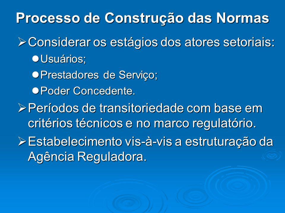 Processo de Construção das Normas
