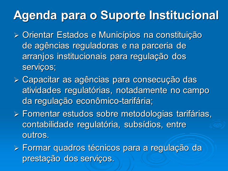 Agenda para o Suporte Institucional