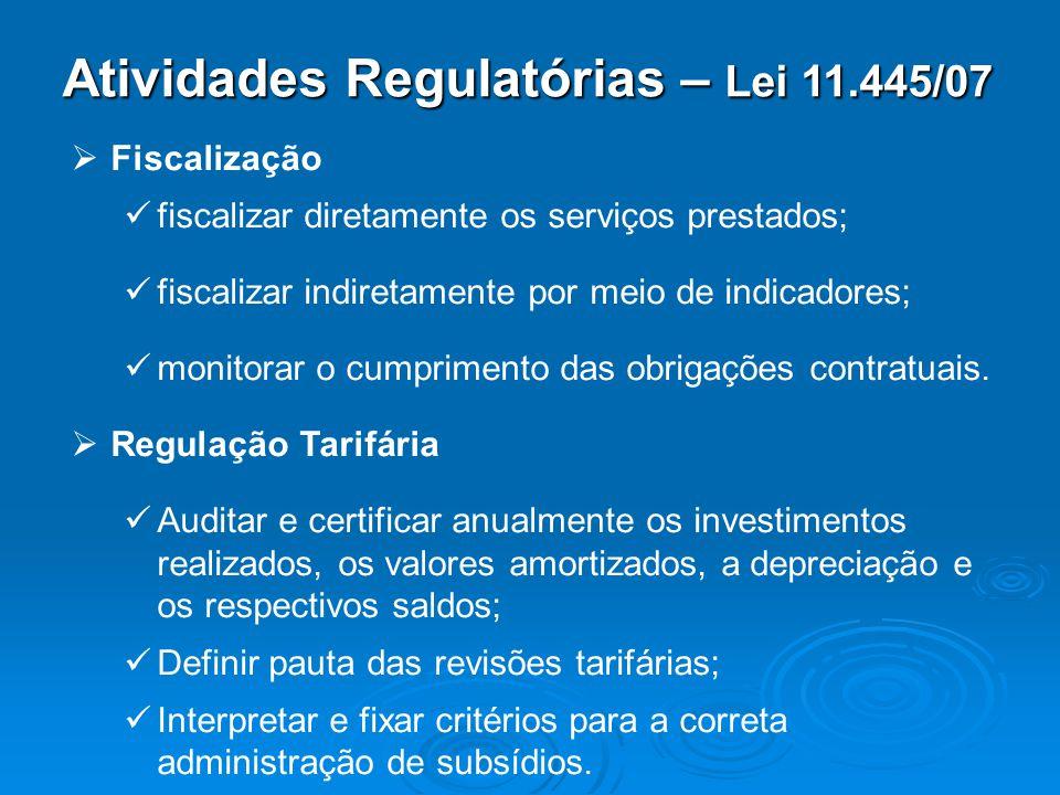 Atividades Regulatórias – Lei 11.445/07