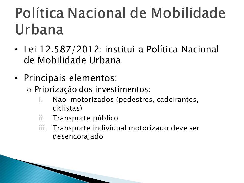 Política Nacional de Mobilidade Urbana