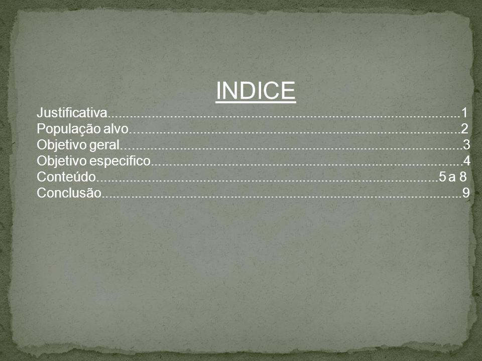 INDICE Justificativa................................................................................................1.