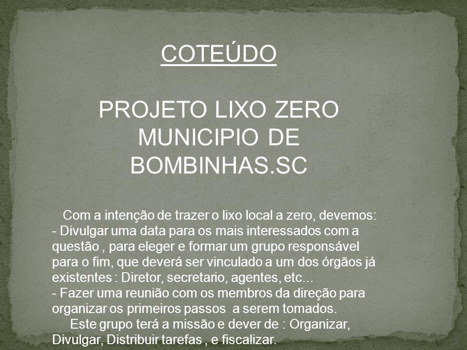 MUNICIPIO DE BOMBINHAS.SC