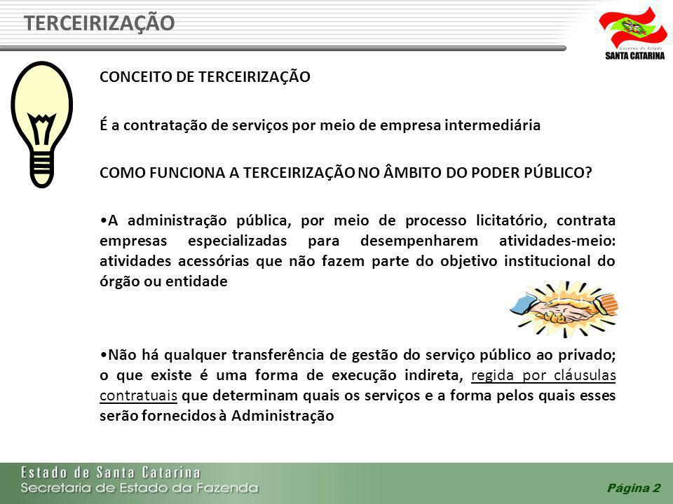 TERCEIRIZAÇÃO CONCEITO DE TERCEIRIZAÇÃO