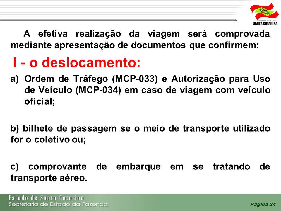 A efetiva realização da viagem será comprovada mediante apresentação de documentos que confirmem: