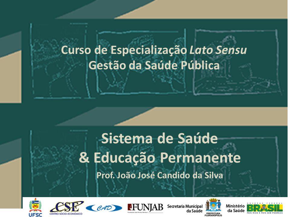 Curso de Especialização Lato Sensu Gestão da Saúde Pública