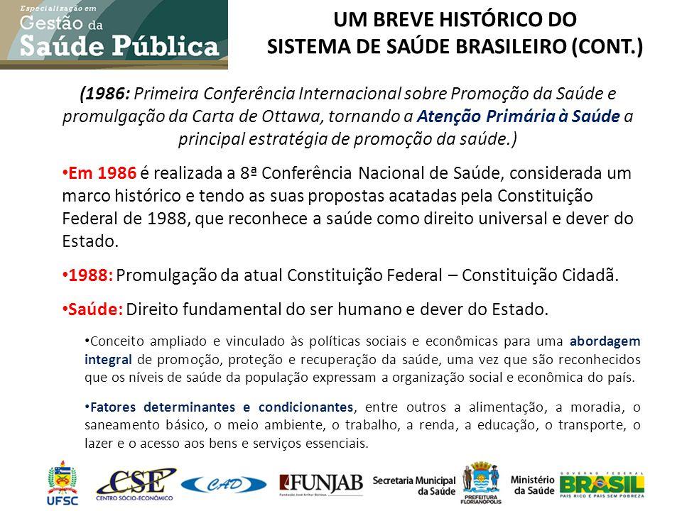 um breve histórico do sistema de saúde brasileiro (cont.)