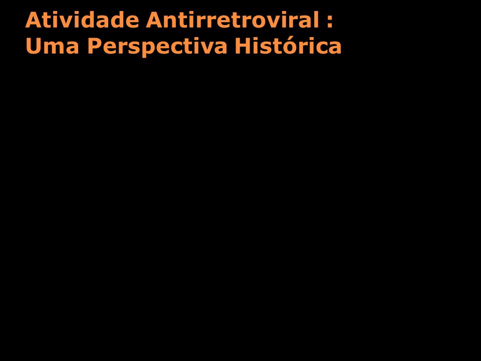 Atividade Antirretroviral : Uma Perspectiva Histórica