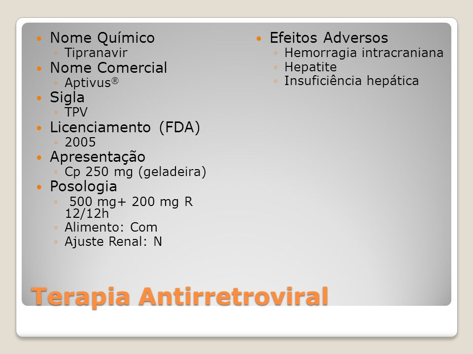 Terapia Antirretroviral