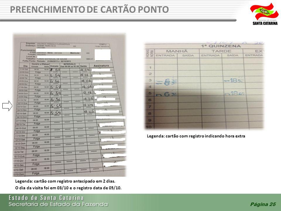 PREENCHIMENTO DE CARTÃO PONTO