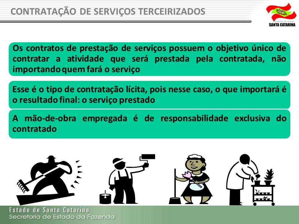 CONTRATAÇÃO DE SERVIÇOS TERCEIRIZADOS