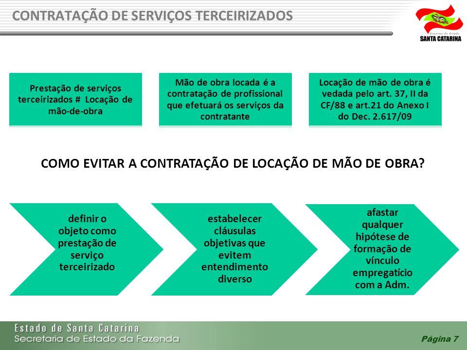 Prestação de serviços terceirizados # Locação de mão-de-obra
