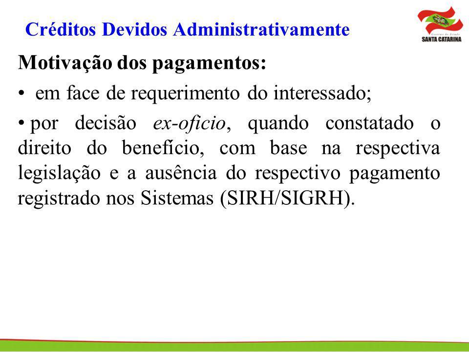 Créditos Devidos Administrativamente