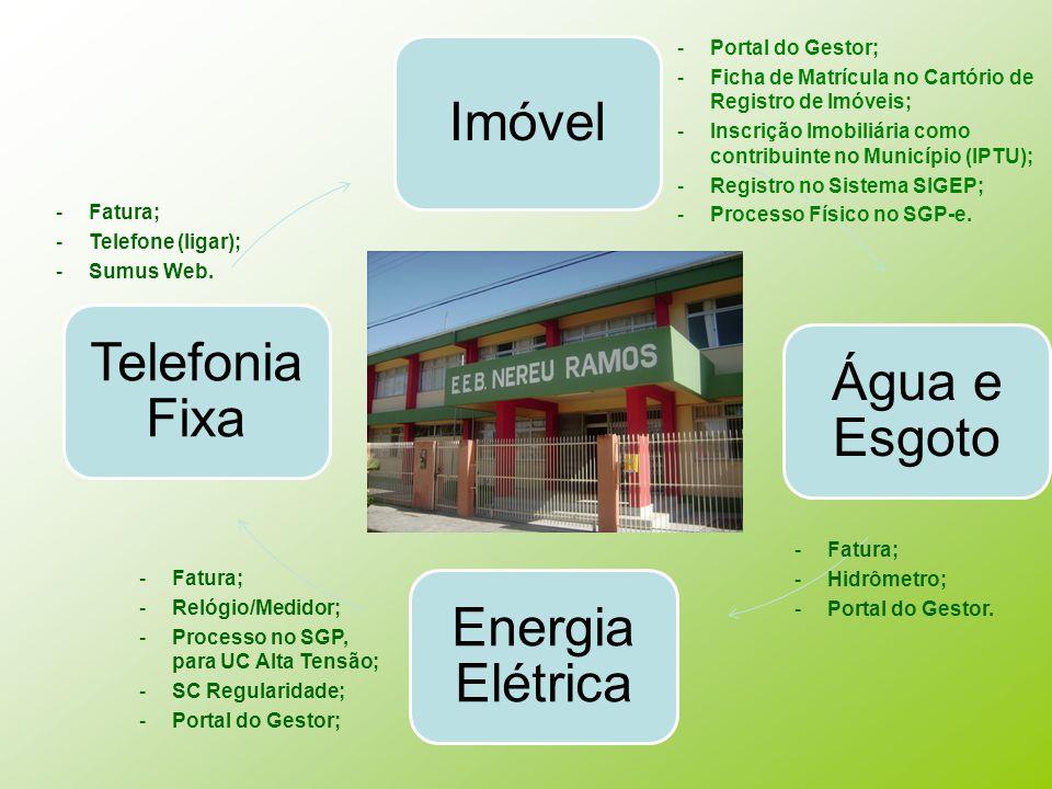 Imóvel Telefonia Fixa Água e Esgoto Energia Elétrica Portal do Gestor;