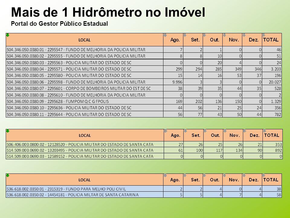 Mais de 1 Hidrômetro no Imóvel Portal do Gestor Público Estadual
