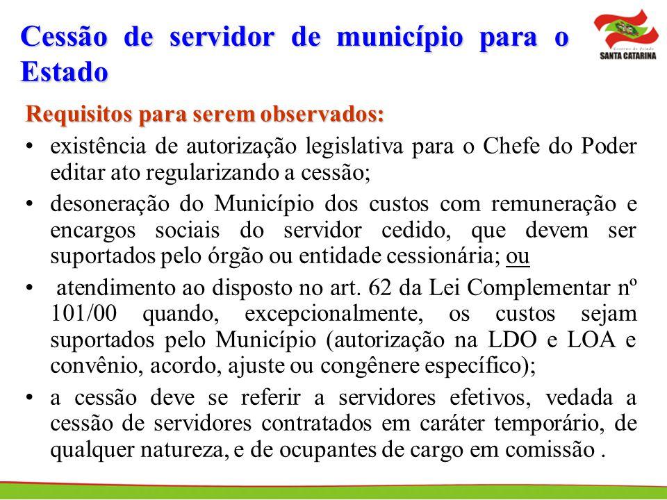 Cessão de servidor de município para o Estado