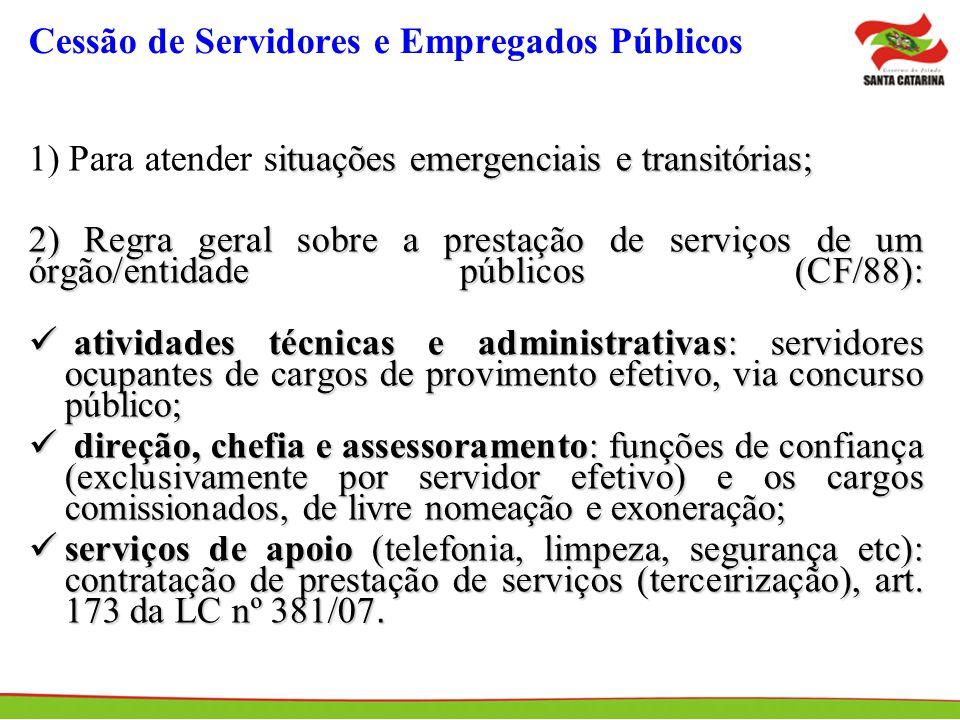 Cessão de Servidores e Empregados Públicos