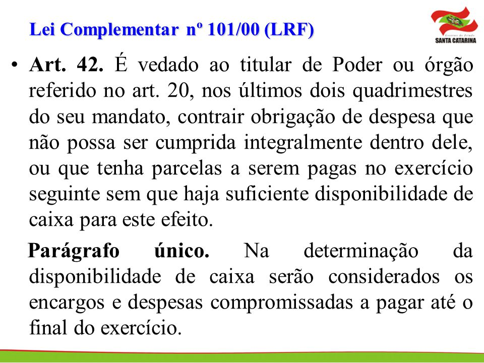 Lei Complementar nº 101/00 (LRF)