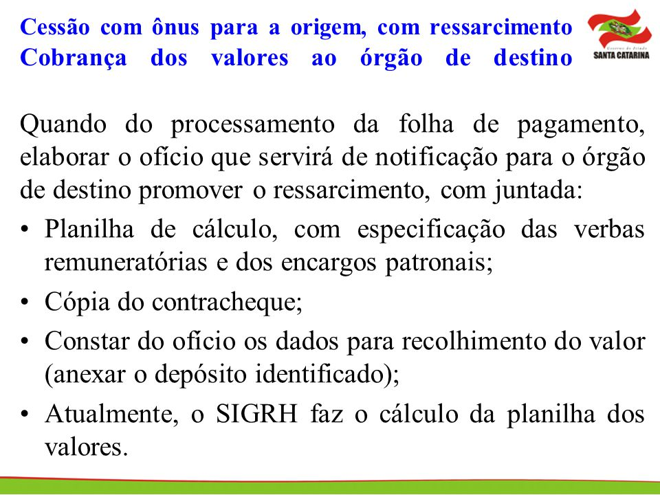 Cópia do contracheque;