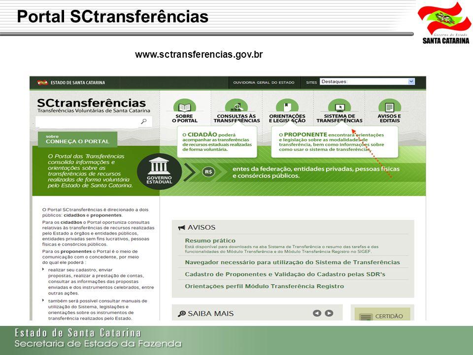 Portal SCtransferências