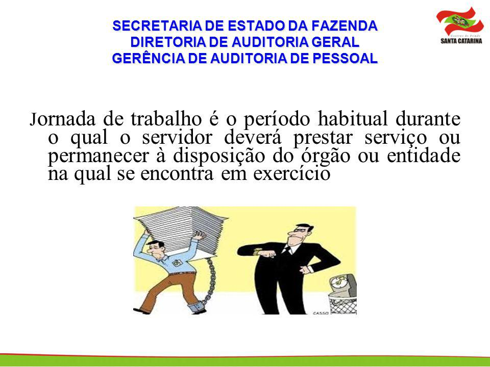 SECRETARIA DE ESTADO DA FAZENDA DIRETORIA DE AUDITORIA GERAL GERÊNCIA DE AUDITORIA DE PESSOAL
