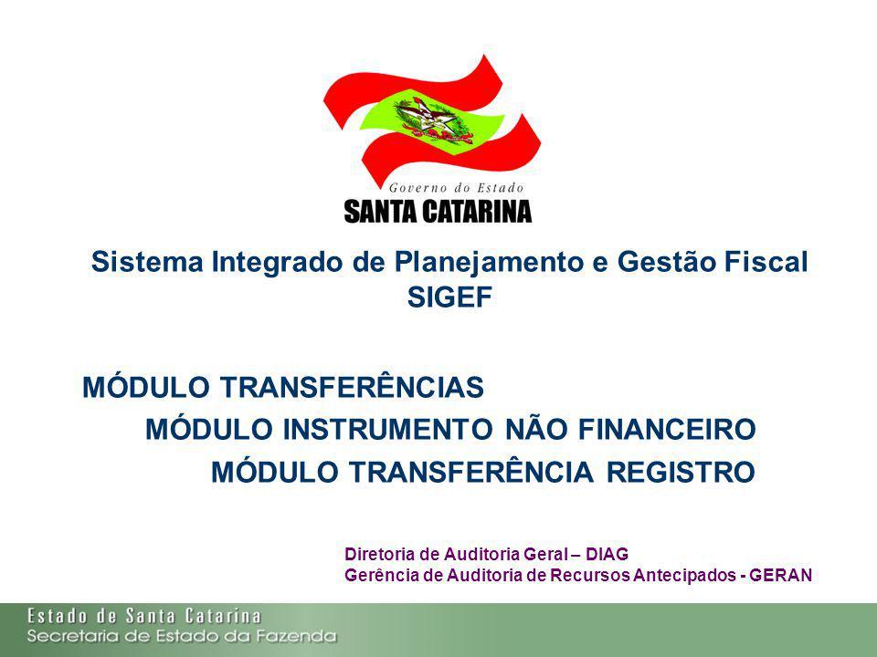 Sistema Integrado de Planejamento e Gestão Fiscal SIGEF