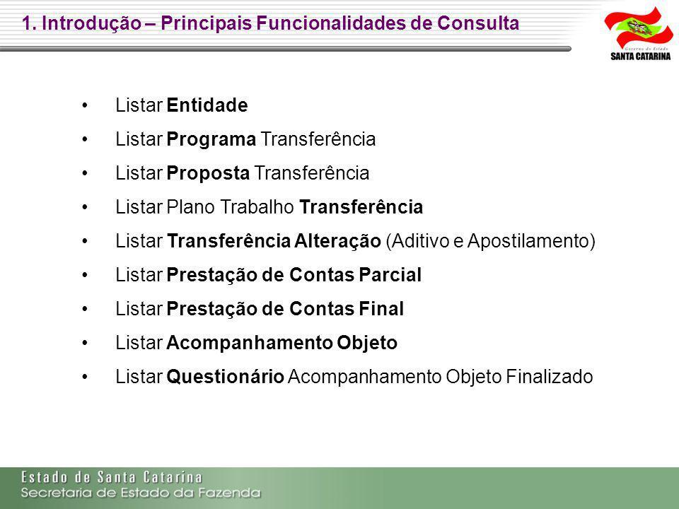 1. Introdução – Principais Funcionalidades de Consulta