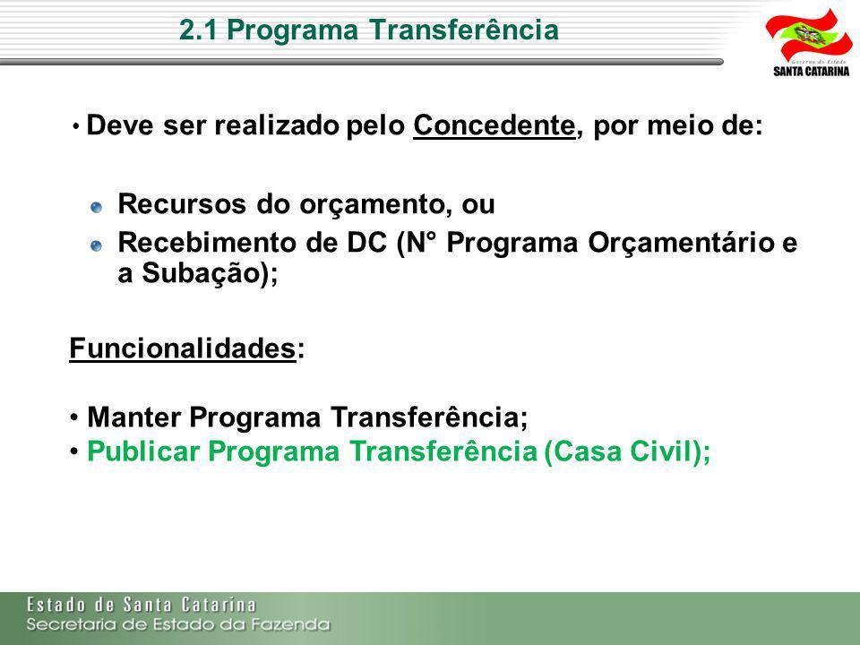 2.1 Programa Transferência