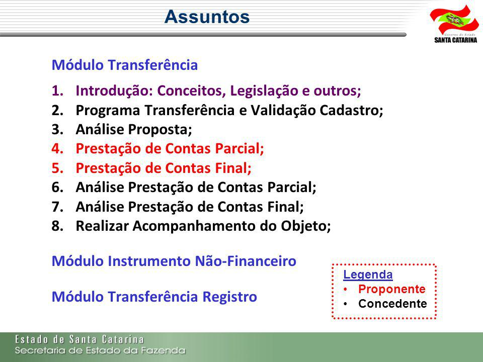 Assuntos Módulo Transferência