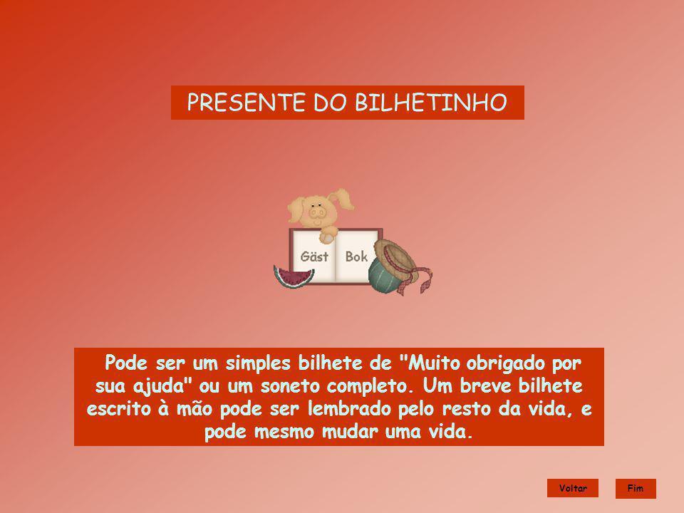 PRESENTE DO BILHETINHO