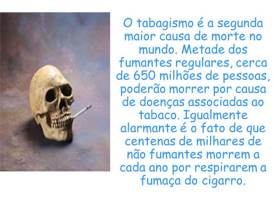 O tabagismo é a segunda maior causa de morte no mundo