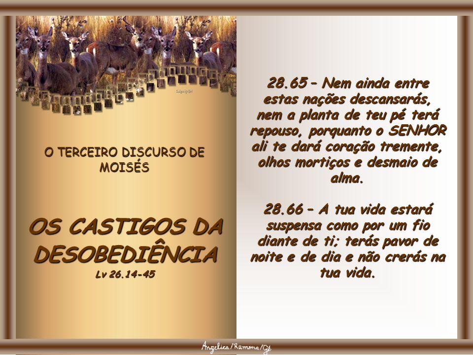 OS CASTIGOS DA DESOBEDIÊNCIA