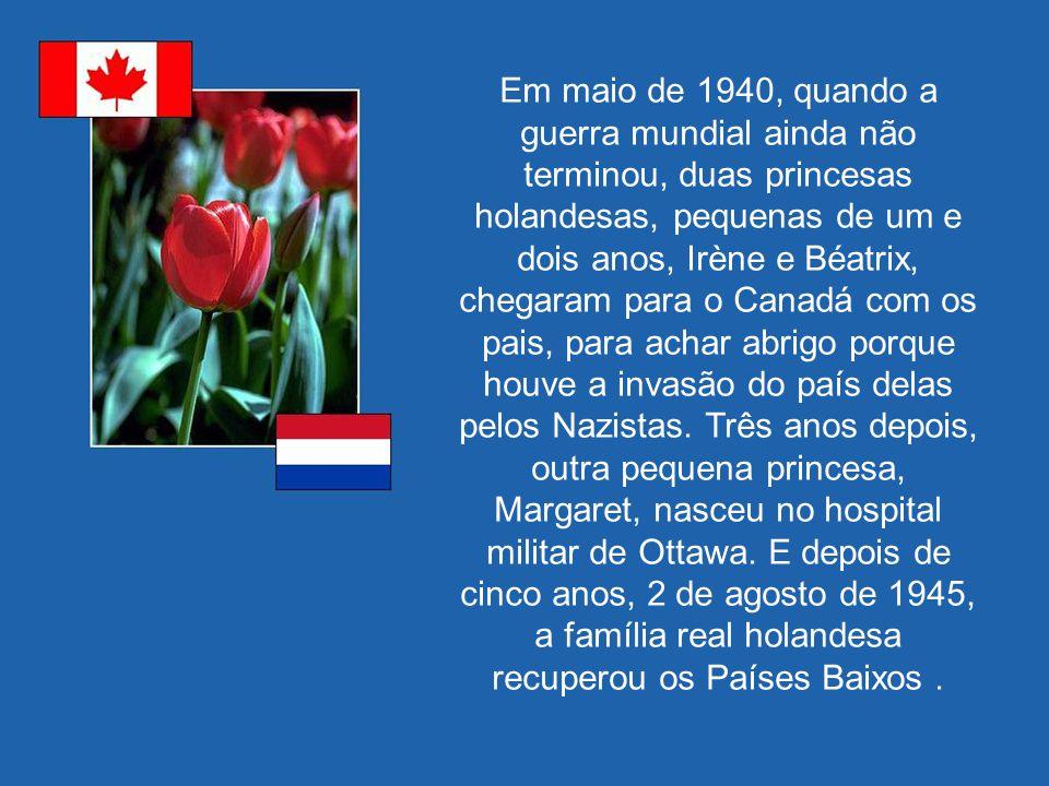 Em maio de 1940, quando a guerra mundial ainda não terminou, duas princesas holandesas, pequenas de um e dois anos, Irène e Béatrix, chegaram para o Canadá com os pais, para achar abrigo porque houve a invasão do país delas pelos Nazistas.
