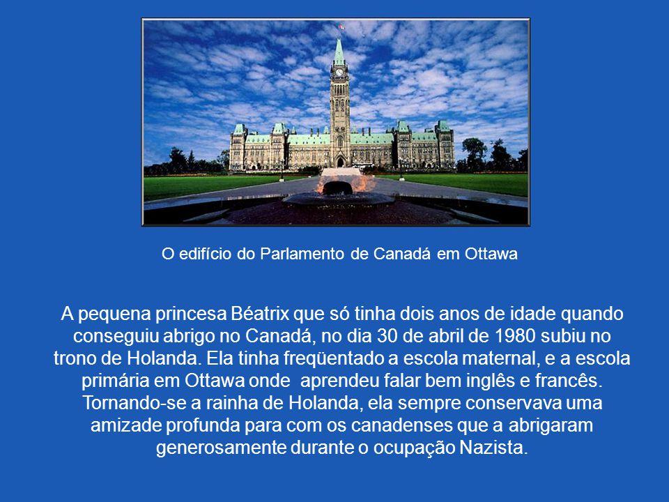 O edifício do Parlamento de Canadá em Ottawa