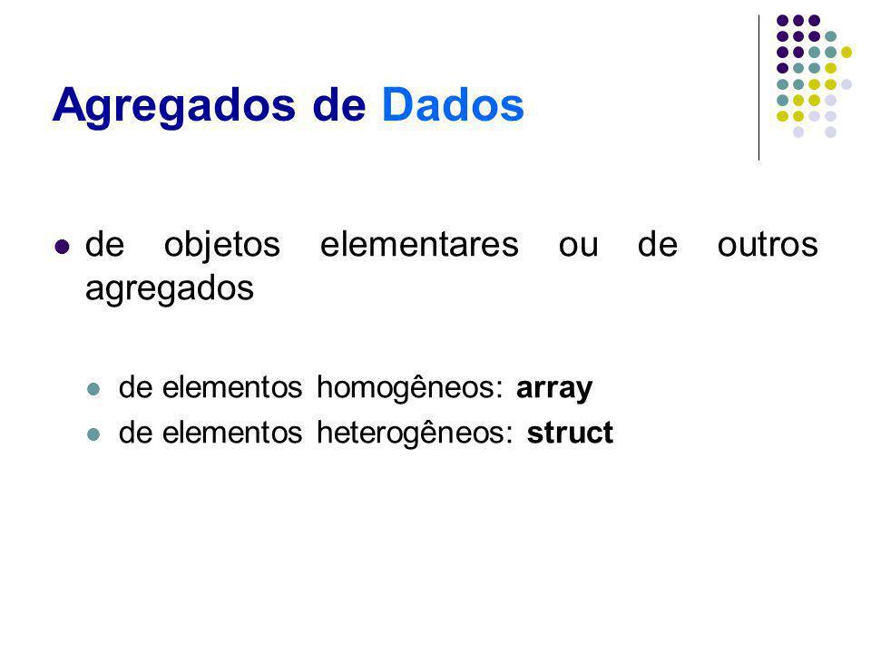 Agregados de Dados de objetos elementares ou de outros agregados