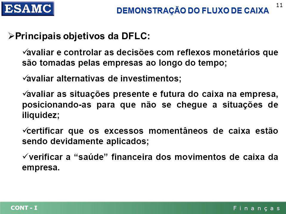 Principais objetivos da DFLC:
