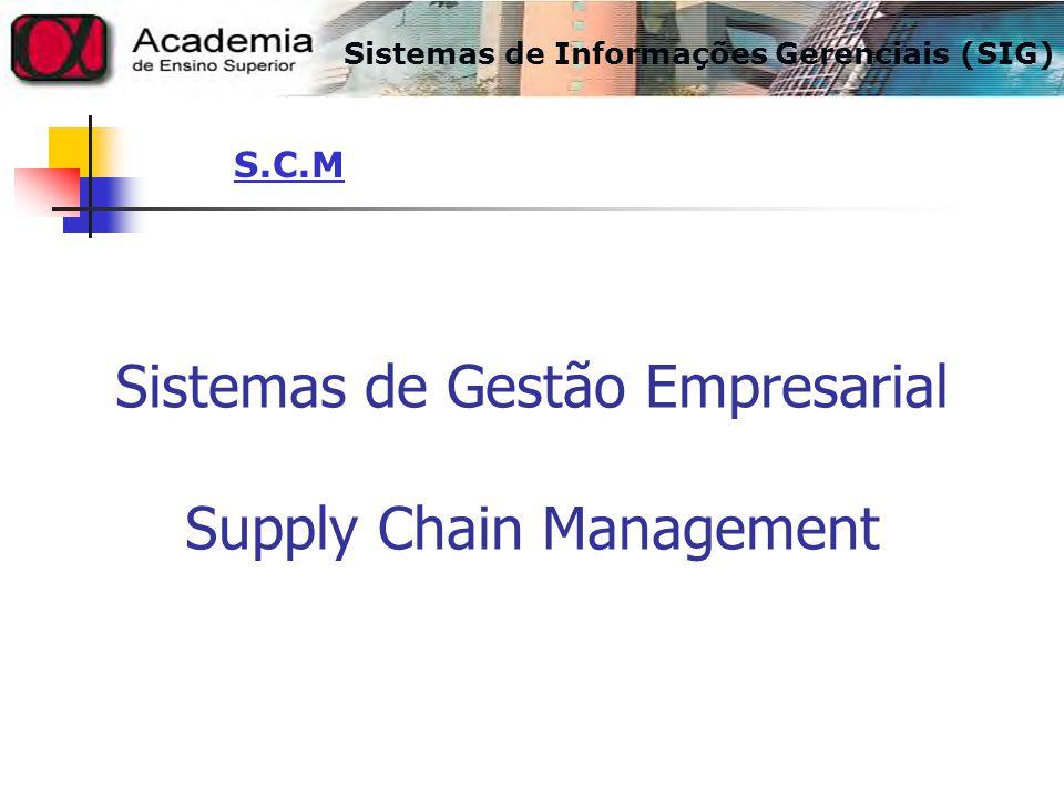 Sistemas de Gestão Empresarial Supply Chain Management