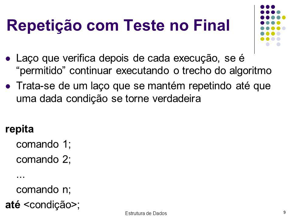 Repetição com Teste no Final