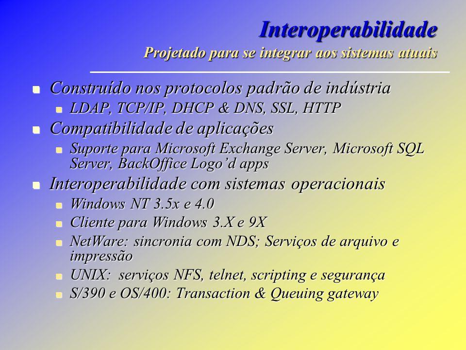 Interoperabilidade Projetado para se integrar aos sistemas atuais