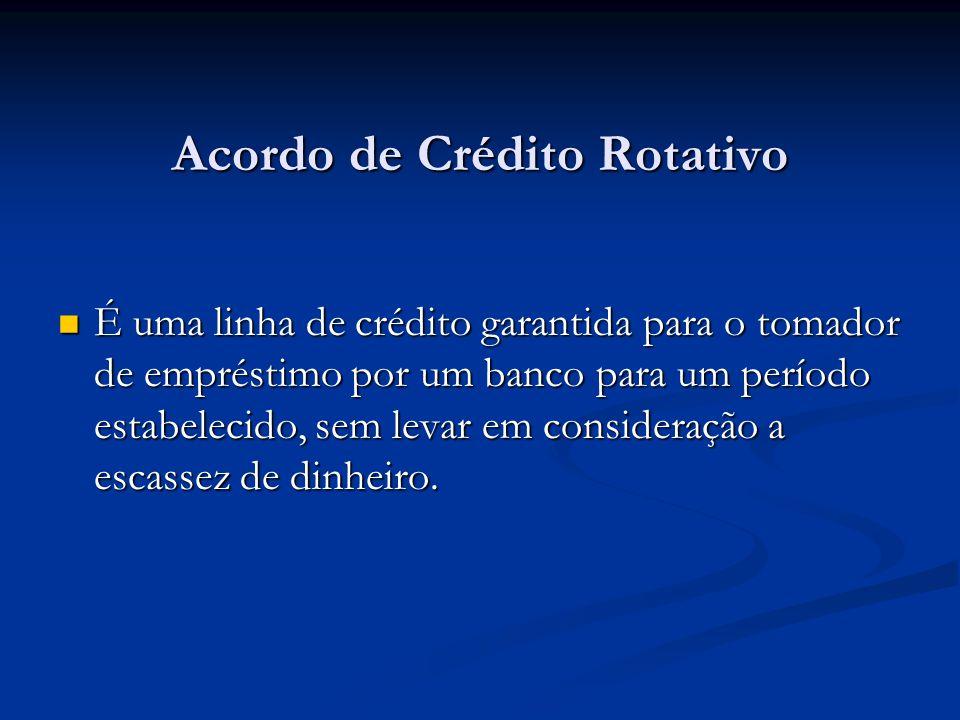 Acordo de Crédito Rotativo